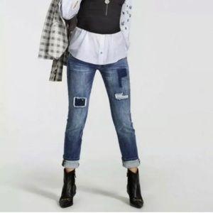 Cabi 5308 patchwork slim boyfriend jeans